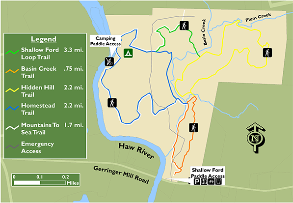 Haw River Nc Map.Shallow Ford Natural Area